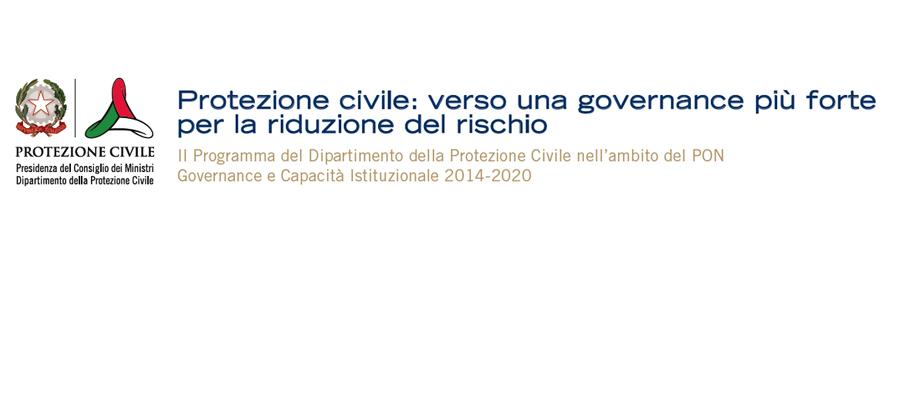 protezionecivile – pon governance capacità istituzionale 2014-2020